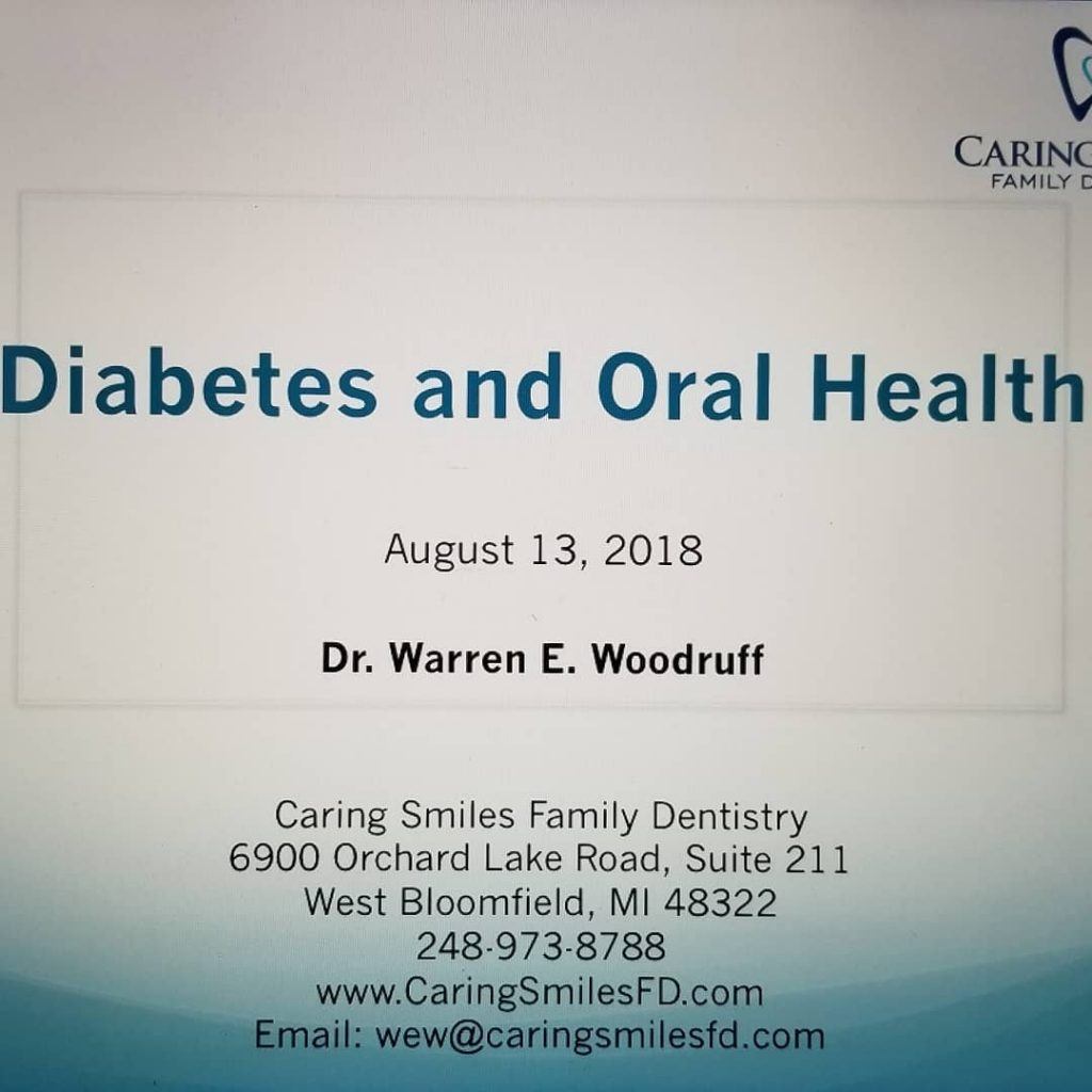 Dr Warren Gives Presentation About Oral Health Diabetes Caring